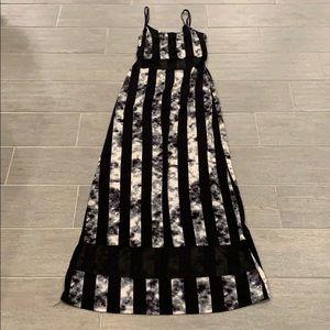 Juju & B striped maxi dress size medium